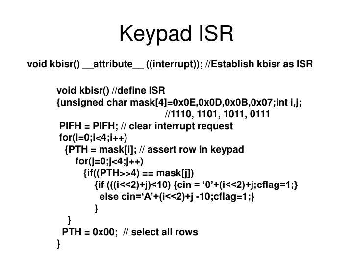 Keypad ISR