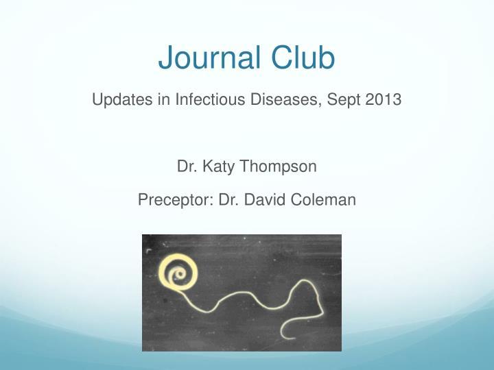 journal club n.