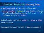 consistent reader for arbitrary point