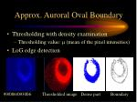 approx auroral oval boundary