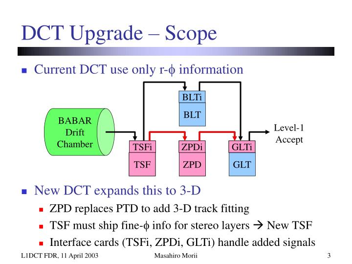 Dct upgrade scope