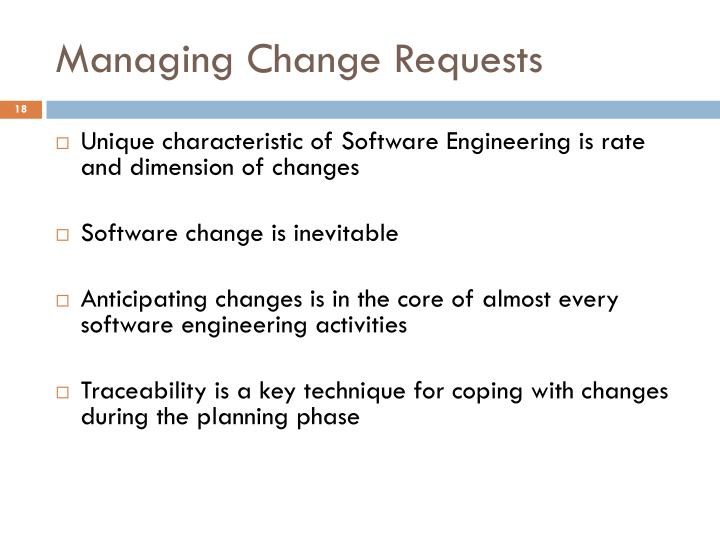 Managing Change Requests