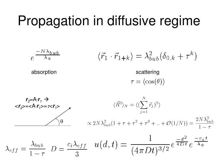 Propagation in diffusive regime