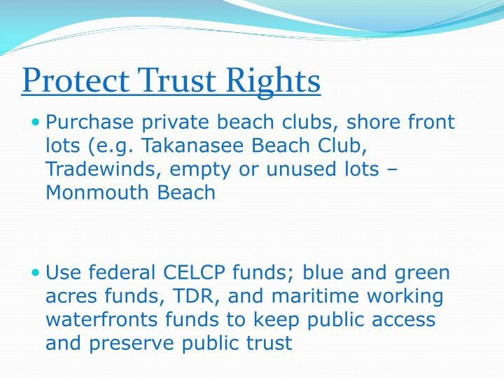 Protect Trust Rights