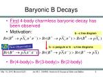 baryonic b decays