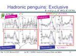 hadronic penguins exclusive