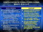 contratacion de consultores norma banco e g c a p2