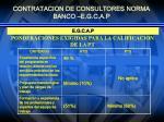 contratacion de consultores norma banco e g c a p5