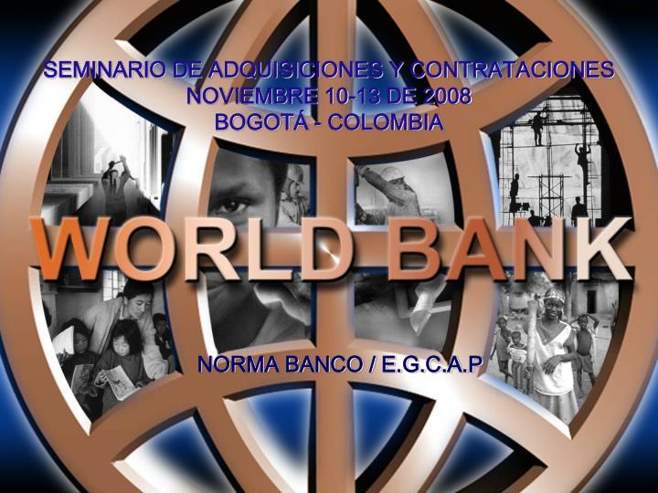 seminario de adquisiciones y contrataciones noviembre 10 13 de 2008 bogot colombia