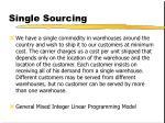 single sourcing