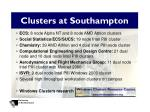clusters at southampton
