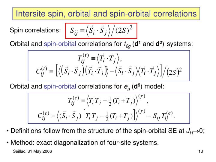 Intersite spin, orbital and spin-orbital correlations