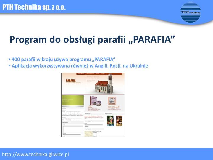 """Program do obsługi parafii """"PARAFIA"""""""