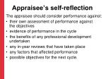 appraisee s self reflection