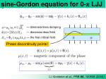 sine gordon equation for 0 p ljj