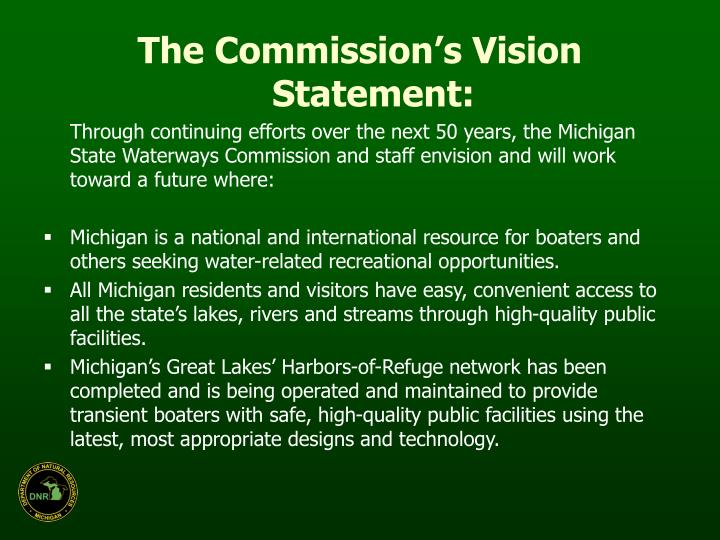 The Commission's Vision Statement:
