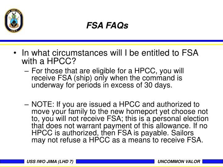 FSA FAQs