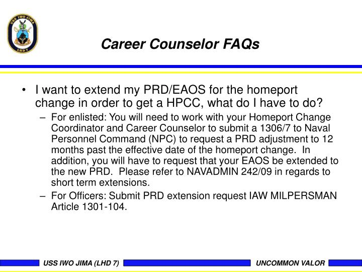 Career Counselor FAQs