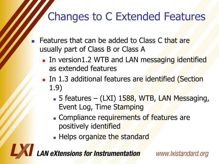 Changes to C Extended Features