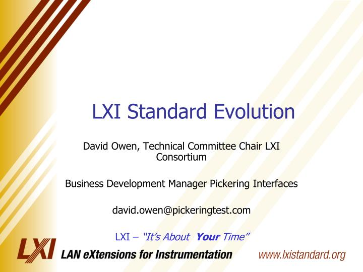 Lxi standard evolution