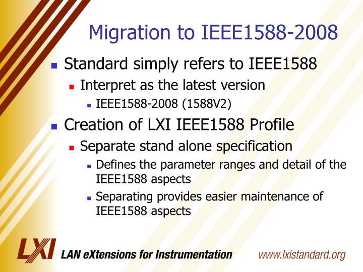 Migration to IEEE1588-2008