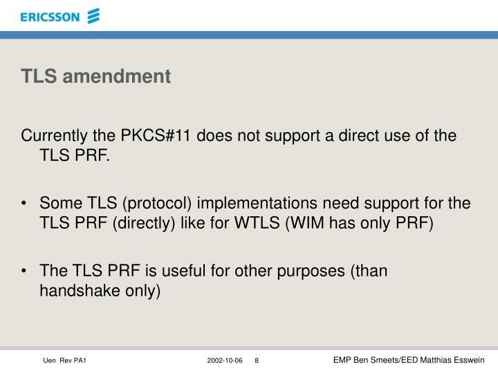 TLS amendment