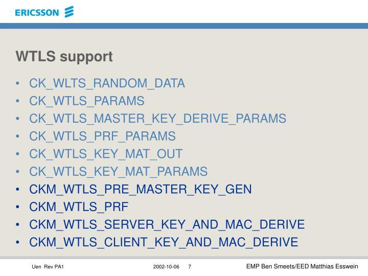 WTLS support