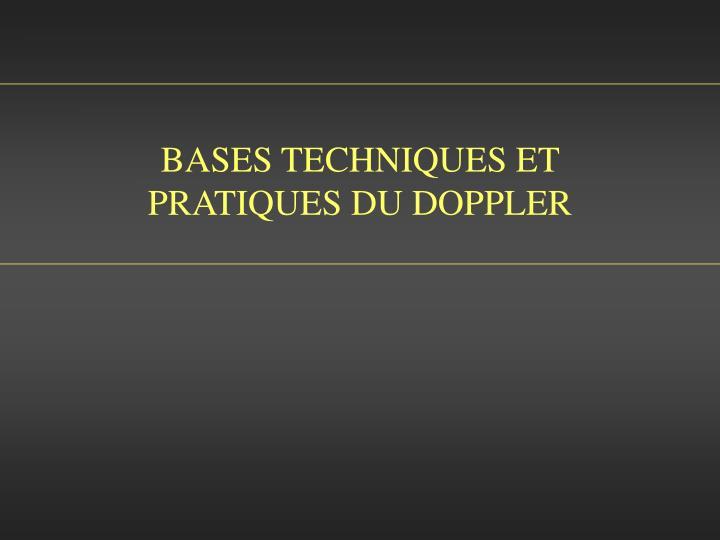 bases techniques et pratiques du doppler n.