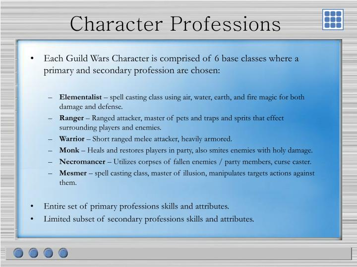 Character Professions
