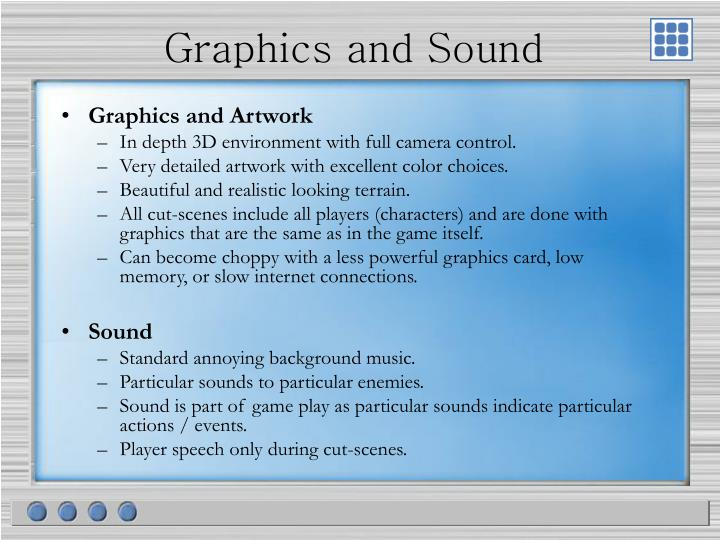 Graphics and Sound