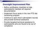 oversight improvement plan1