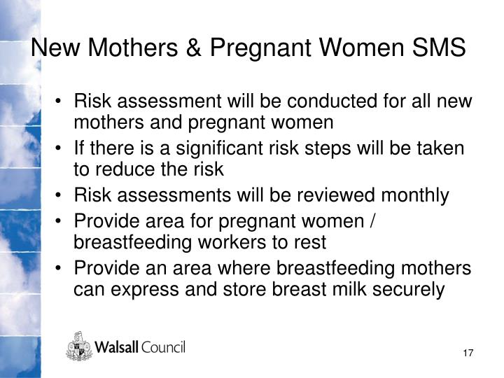 New Mothers & Pregnant Women SMS