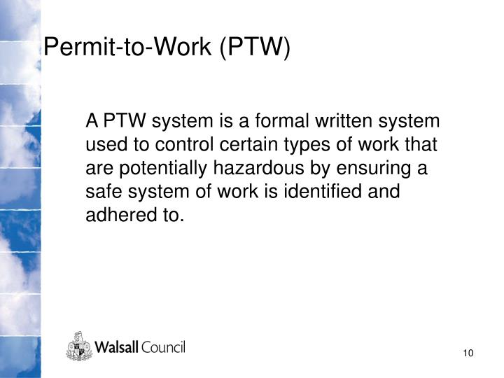 Permit-to-Work (PTW)