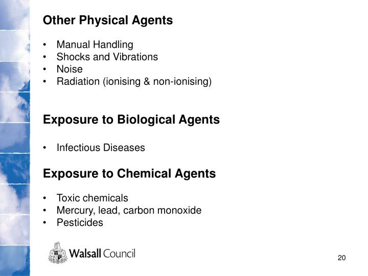 Other Physical Agents
