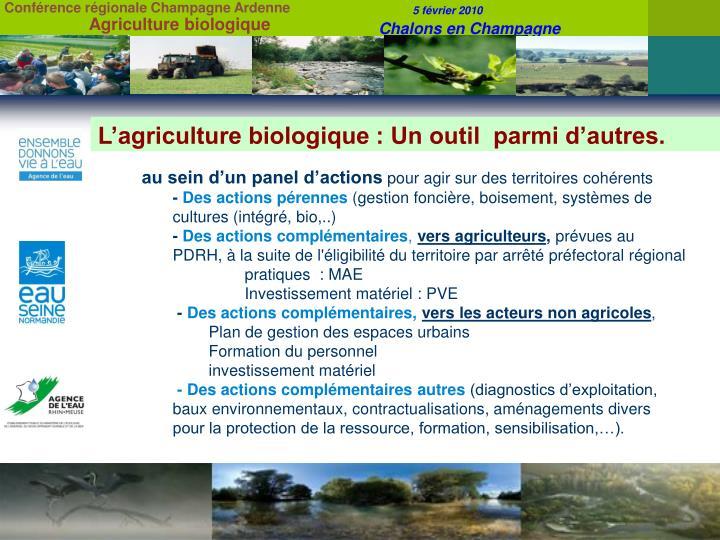 L'agriculture biologique :