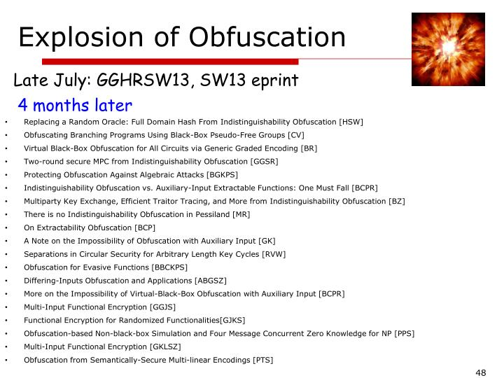 Explosion of Obfuscation