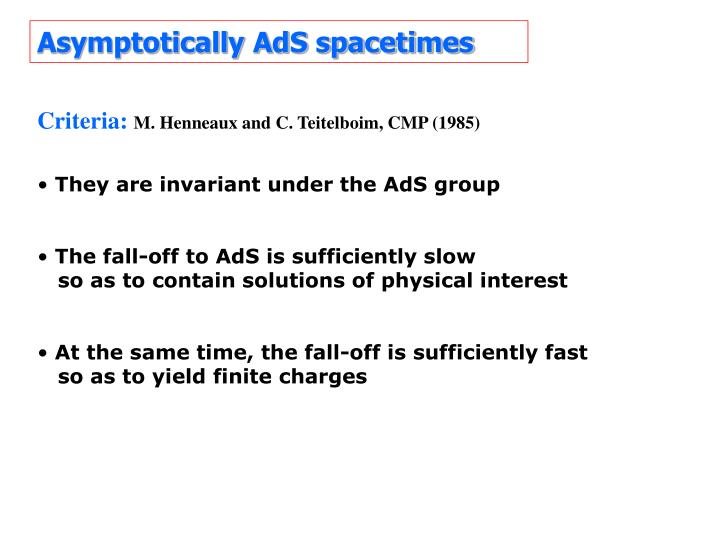 Asymptotically AdS spacetimes