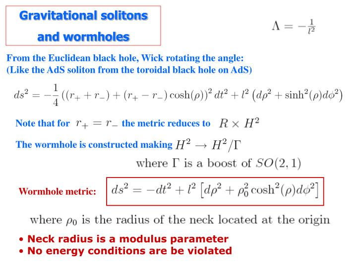 Gravitational solitons