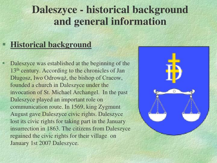 Daleszyce historical background and general information