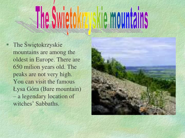 The Świętokrzyskie mountains