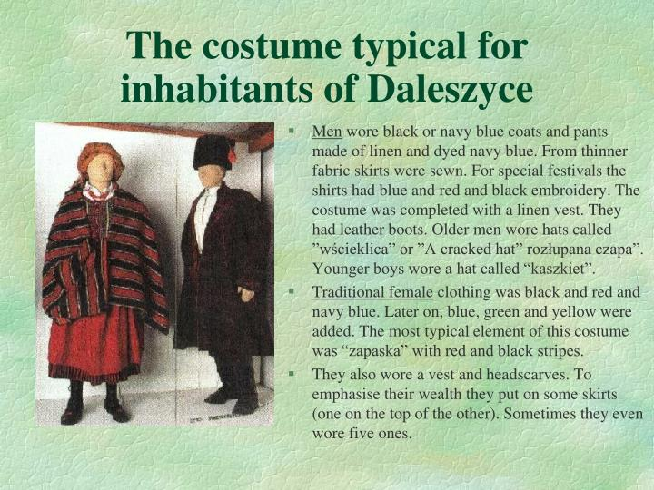 The costume typical for inhabitants of Daleszyce