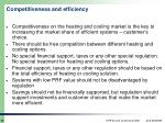 competitiveness and efficiency
