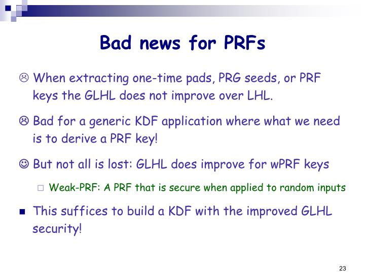 Bad news for PRFs