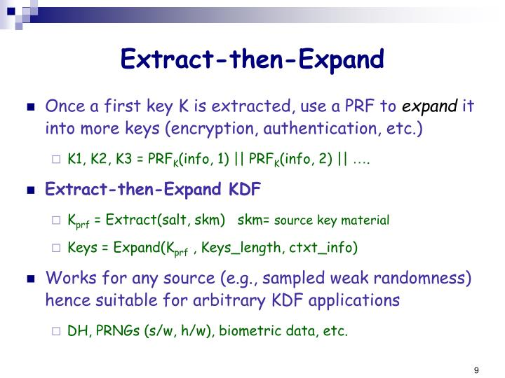 Extract-then-Expand