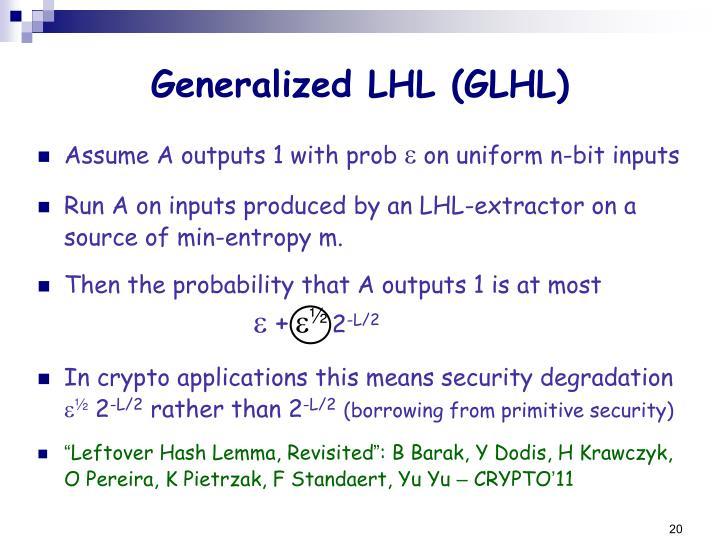 Generalized LHL (GLHL)