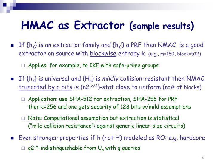 HMAC as Extractor
