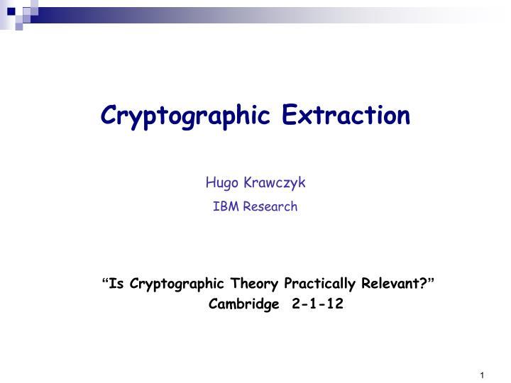 Hugo krawczyk ibm research