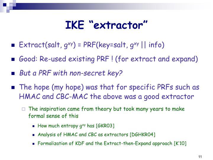 """IKE """"extractor"""""""