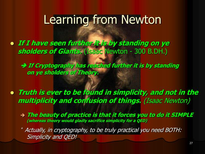 Learning from Newton