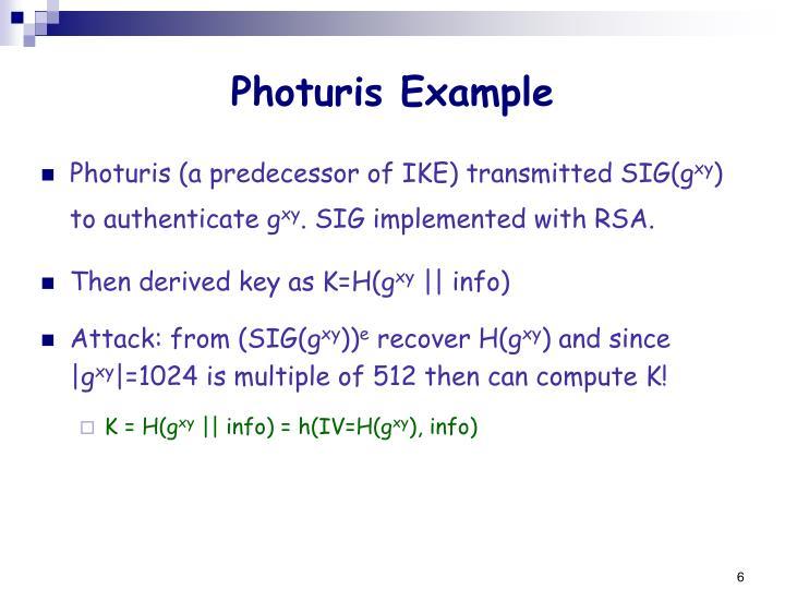 Photuris Example